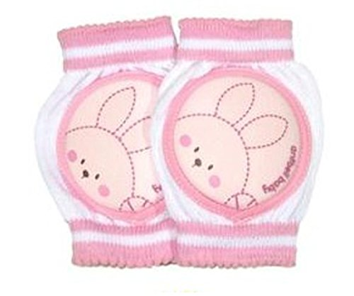 Merryshop@ Crawlings Unisex Rabbit Knee Pads One Size (Pink) - 1