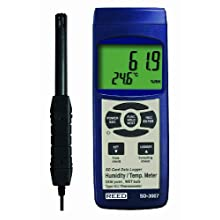 Reed SD-3007 Thermo-Hygrometer and Data Logger, 32 to 122 Degrees F Temperature Range, 5 to 95%RH Humidity Range