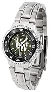 Wyoming Cowboys Competitor AnoChrome Ladies Watch with Steel Band and Colored Bezel by SunTime