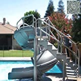 Pool Slides:S.R<span class ='cd'>double drop water slide</span>. cruz 695-209-424 Vortex complete Tube with steps pool Slide, grey Granite