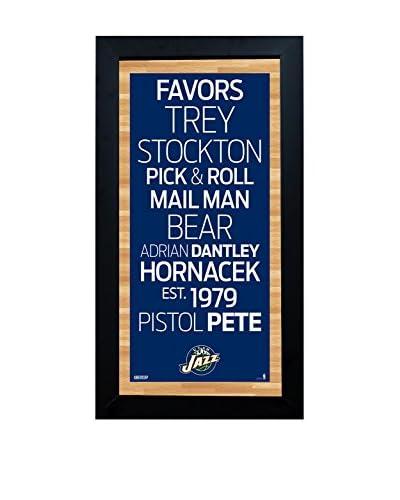 Steiner Sports Memorabilia Framed Utah Jazz Subway Sign