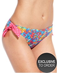 M&S Collection Ditsy Floral Hipster Bikini Bottoms