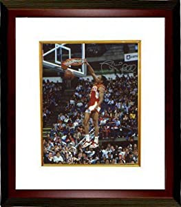 Spud Webb signed Atlanta Hawks 16x20 Photo Custom Framed (1986 Slam Dunk Champ front) by Athlon Sports Collectibles
