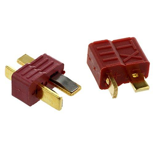 SODIAL-R-RC-Modellbau-Spielzeug-Batterie-Y309-Deans-Type-T-Stecker-Anti-Rutsch-M-F-Anschluss-10-Paar
