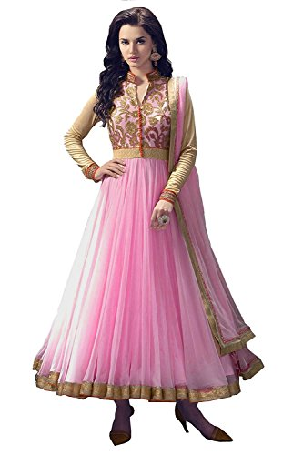 RadadiyaTRD Net Anarkali Party Wear Women Suit ( 550ds_Multicolor_Freesize)