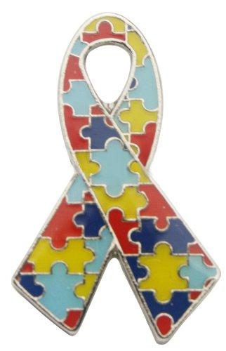 Autism Awareness Ribbon Pin Fundraiser 25 Pack