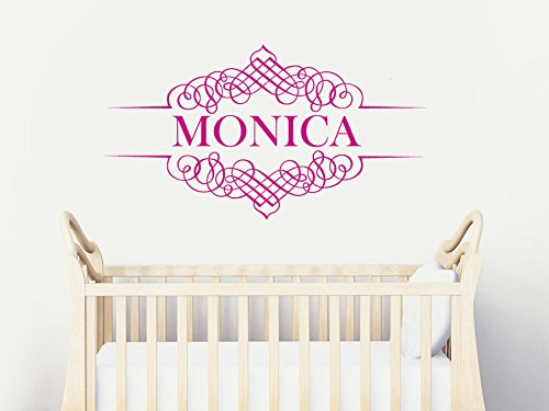Wall Decal Vinyl Sticker Decals Art Decor Design Monogram Personalized Custom Name Family Kids Nursery Wedding Gift Dorm Bedroom(R759) front-921899