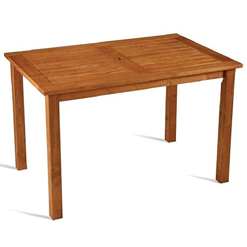 Bolero Robinia Wooden Table Rectangular 1200 x 800mm