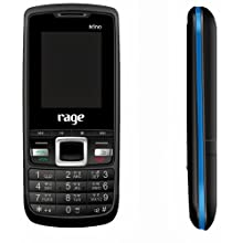 Rage Nino (Black+Blue) Colour Dual SIM Mobile with Camera, FM Radio & Torch, special one touch music keys