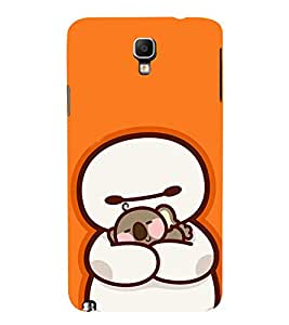 EPICCASE Cute Teddy cover Mobile Back Case Cover For Samsung Galaxy Note 3 Neo (Designer Case)