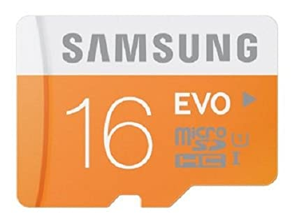 Samsung Evo 16GB MicroSDHC Class 10 (48MB/s) Memory Card (With SD Adapter)