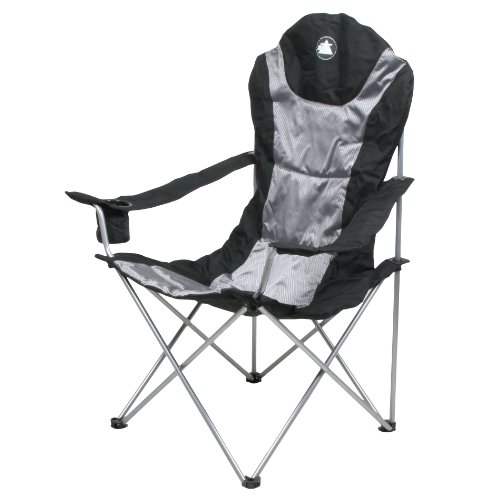 10T lightBOY Camping Chair 75 x 60 x 109 cm Black