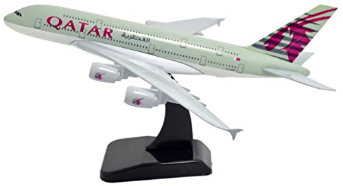 TANG DYNASTY(TM) 1:400 Standard Edition Air Bus A380 Qatar Airways Metal Airplane Model Plane Toy Plane Model (Qatar Airways Model compare prices)