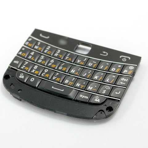 Black Korean Layout Qwerty Keyboard Keypad Key Keys Button Buttons For Blackberry Bold Touch 9900 Fix Repair Replace Replacement