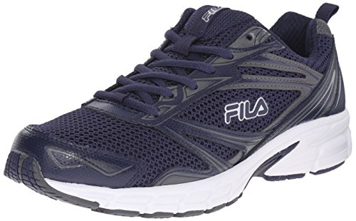 Fila Men's Royalty-M Running Shoe, Fila Navy/Castlerock/White, 8.5 M US