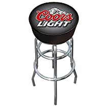 Coors Light Logo Padded Bar Stool - Game Room Products Pub Stool Beer Logos