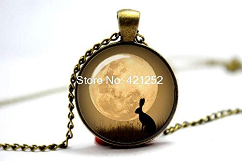 Watership Down Rabbit & Moon Necklace