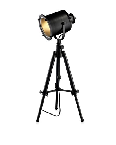Artistic Lighting Ethan Adjustable Tripod Table Lamp, Restoration Black