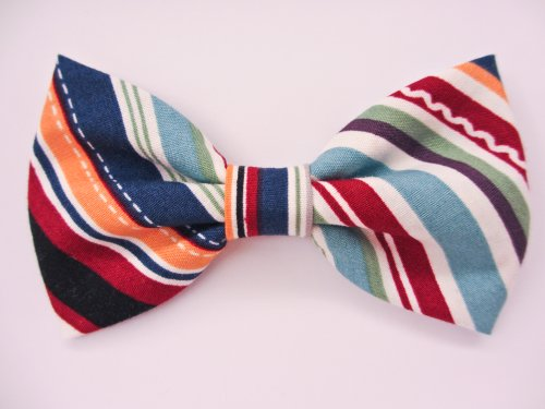 Retro American - Dog or Cat Handcrafted Slide-On Bow Tie Collar Accessory (Collar Not Included)