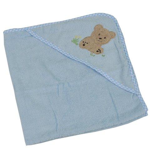Imagen de New Baby Bath Towel con capucha de algodón 100% (Azul)