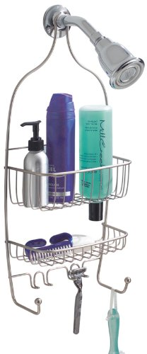 InterDesign Raphael Shower Caddy, Satin Nickel