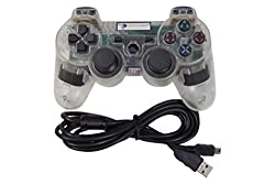 Digital Gaming World PS3 Wireless Controller For Sony Play Station 3 Console (Transparent Special Limited Edition), Compatible/Generic.