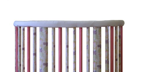 Go Mama Go Designs Oval Crib Teething Guard Set, White/Yellow
