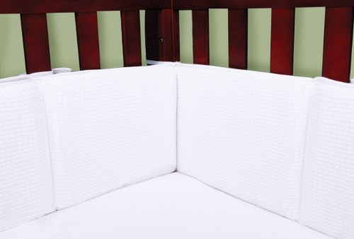 Trend Lab Trend Lab White Pique Crib Bumper - 1