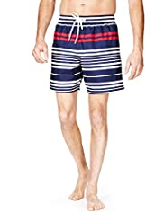 Blue Harbour Horizontal Striped Quick Dry Swim Shorts