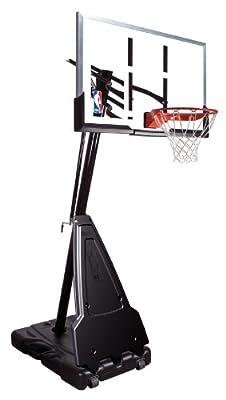 Spalding 68564 Portable Basketball System - 54 Inch Aluminum Trim Acrylic Backboard