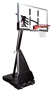 "Spalding Portable Basketball System - 60"" Aluminum Trim Acrylic Backboard"