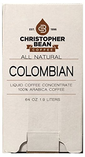 Colombian Cold Brew Or Hot Liquid Coffee Concentrate 64 Ounce Bag In Box With Shcolle Connector
