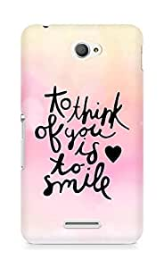 AMEZ to think of you is to smile Back Cover For Sony Xperia E4