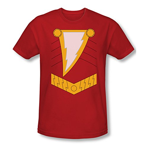 Shazam Uniform Costume Slim Fit T-Shirt