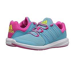 adidas Performance S-Flex K Running Shoe ,Blue/Shock Pink/White,11 M US Little Kid