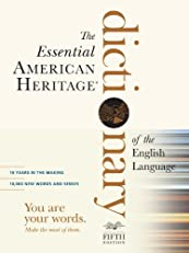 The Essential American Heritage Dictionary (American Heritage Dictionary of the English Language)