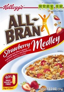 Kellogg's All-Bran Strawberry Medley 13.2 oz. (Pack of 6)