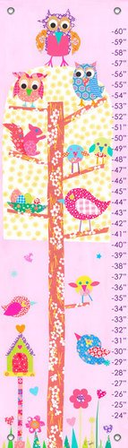 "Oopsy daisy, Fine Art for Kids Little Owls Growth Chart, 12"" X 42"""