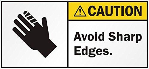Caution Avoid Sharp Edges Sticker (Sharp Edge Company compare prices)