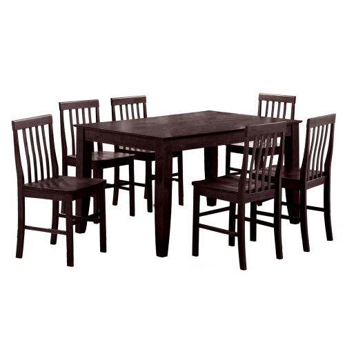 Black Friday Walker Edison 7-Piece Solid Wood Dining Set