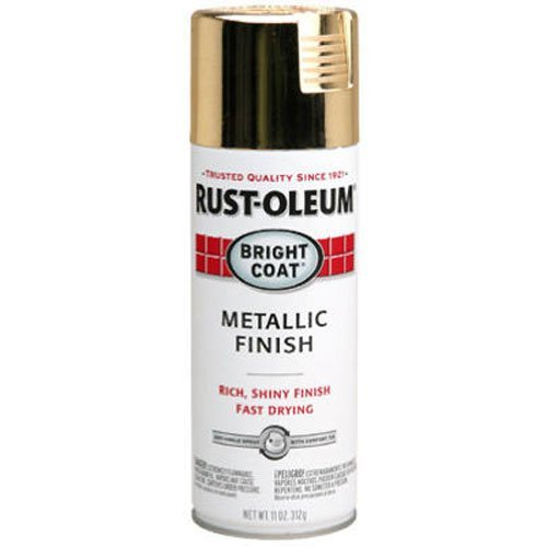 Rust-Oleum 7710830 Bright Coat Metallic Color Spray, Gold, 11-Ounce (Gold Spray Paint compare prices)