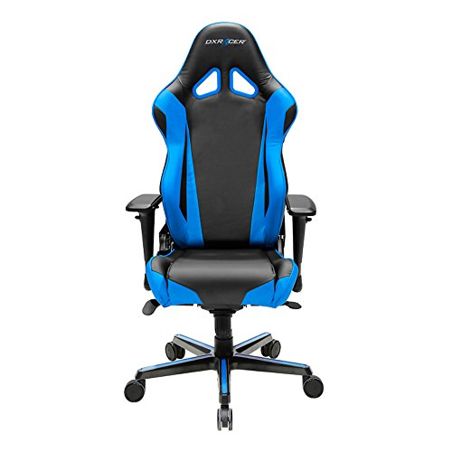 DXRacer-Racing-Series-DOHRV001-Office-Chair-Gaming-Chair-Carbon-Look-Vinyle-Ergonomic-Computer-Chair-eSports-Desk-Chair-Executive-Chair-Furniture-with-Free-Cushions