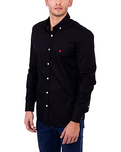 POLO CLUB Camisa Hombre Gentle Pure Plain Negro