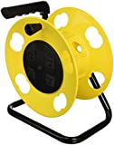 Bayco SL-2000PDQ Cord Storage Reel with 4 Outlets and Resettable 15-Amp Circuit Breaker