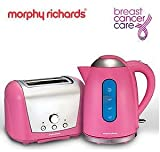 Morphy Richards Accents Kettle & toaster Breast Cancer Care Set Pink