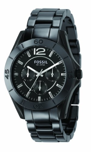 Fossil Ladies Black Ceramic Analogue Watch - CE1003