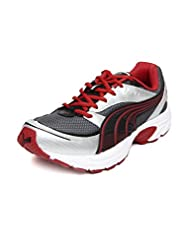 Puma Men's Grey & Red Mesh Axis Sports Shoes - 18800203