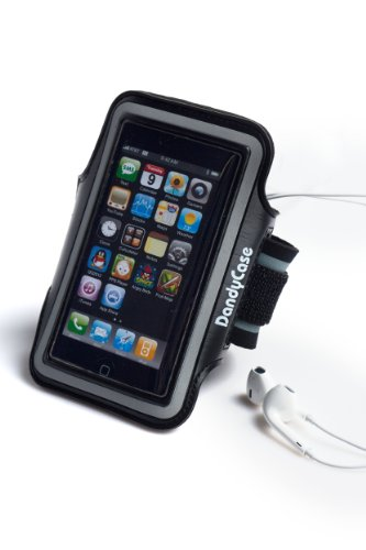 Dandycase Black Non-Slip Protective Gym Jogging Sports Armband Case Cover For Apple Iphone 5S / 5 / 5C