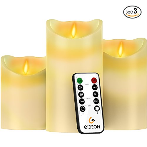 Gideon-Set-of-3-Flameless-LED-Candles-4-inch-5-inch-6-inch-Real-Wax-Real-Flickering-Candle-Motion-with-Multi-Function-Remote-OnOff-Timer-Dimmer-Vanilla-Scented-Ivory
