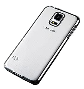 Kapa Plated Edge Clear Hard Back Case Cover for Samsung Galaxy Note Edge - Silver